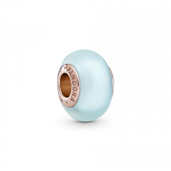 Pandora Rose Charm Mattiertes Blaues Muranoglas - 789420C00
