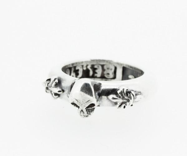 ElfCraft Ring Skull + Lilie, - E-806.099-52