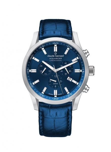 Claude Bernard Aquarider Silber Blau Quarz Chronograph - 10222-3C-BUIN1_1