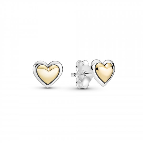 Pandora Ohrstecker Gewölbtes Goldenes Herz - 299389C00
