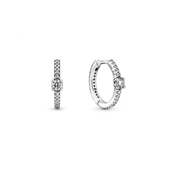 Pandora Ohrringe Funkelnden Solitaire Reifen - 299406C01