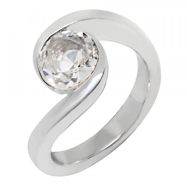 Swiss Rocks Bergkristall Ring Elipse - SR-164