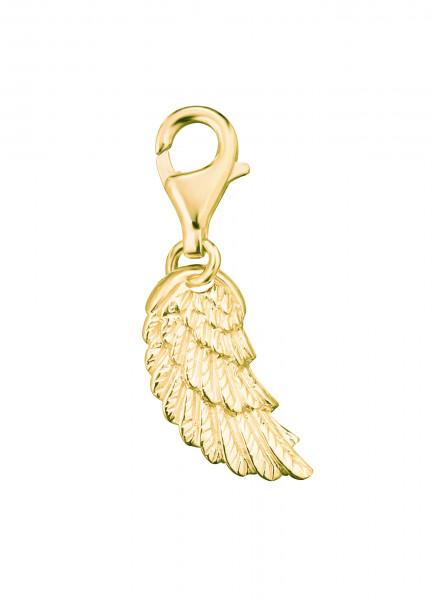 Charm Flügel vergoldet