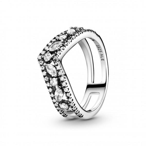 Pandora Ring Double Wishbone Herz - 199095C01
