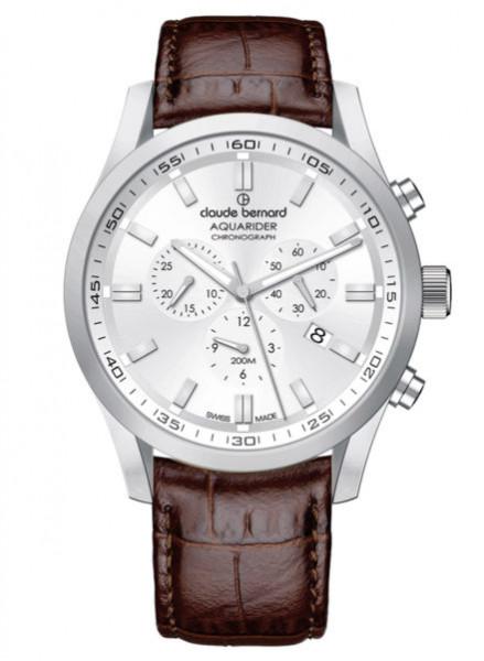 Claude Bernard Aquarider Chronograph Silber Weiss (10222-3C-AIN)