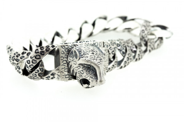 ElfCraft Bracelet, Leopard Head S, Black Diamond Eye