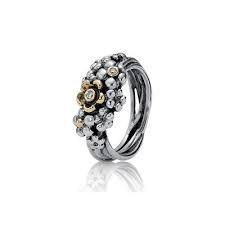 PANDORA Ring Flower mit 2 Diamanten - 190245D