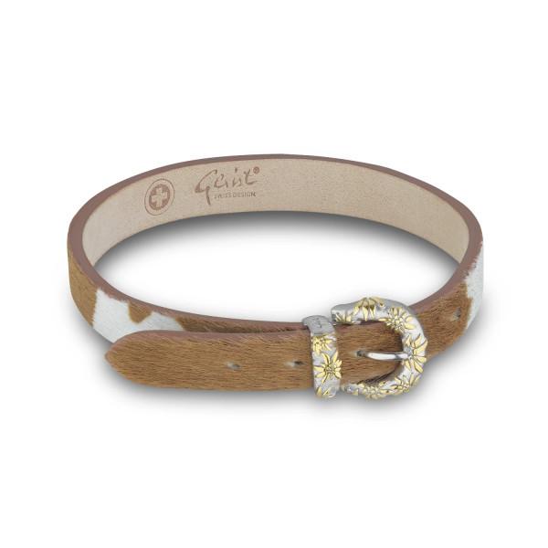 Gexist Edelweiss Leder Armband Bicolor - BG-9007