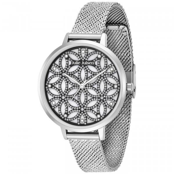 Julie Julsen Uhr Flower of Life Sparkling Silver - JJW1235G38-SME - 3D