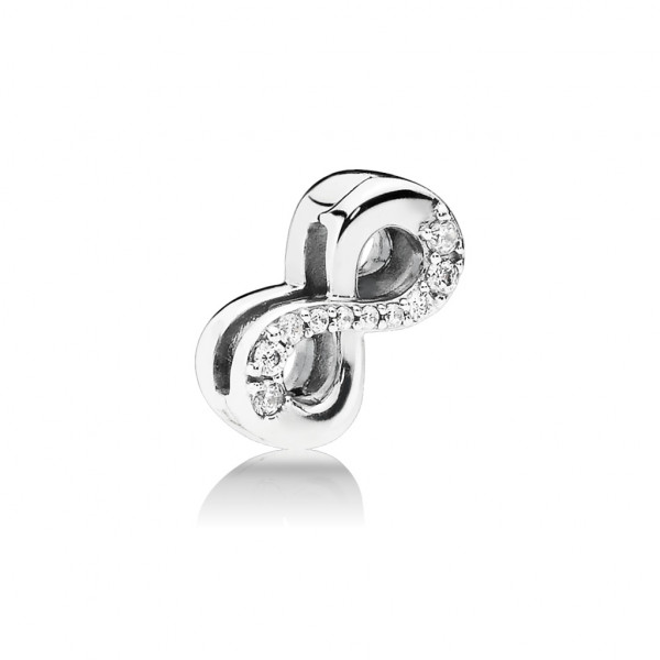 PANDORA Reflexions Fixed Clips Charm Sparkling Infinity - 797580CZ
