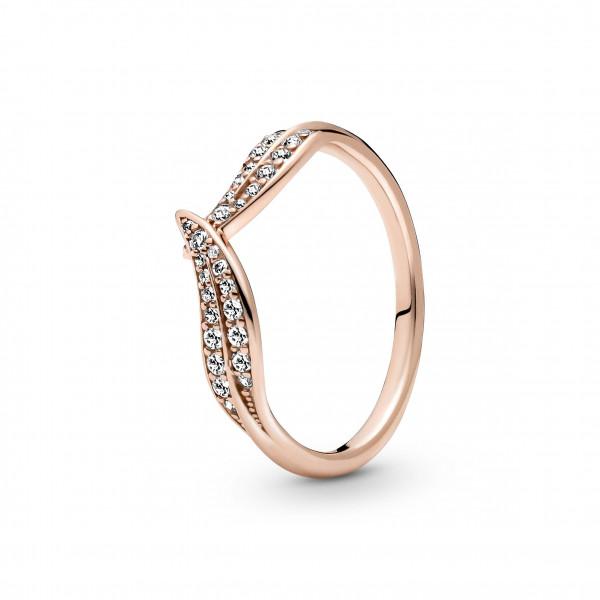 Pandora Rose Ring Moments Funkelnde Blätter 1