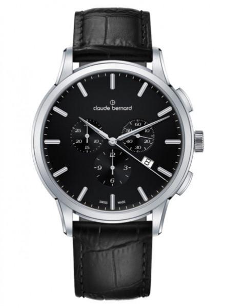 Claude Bernard Schweizer Classic Chronograph Silber Schwarz (10237_3_NIN1)