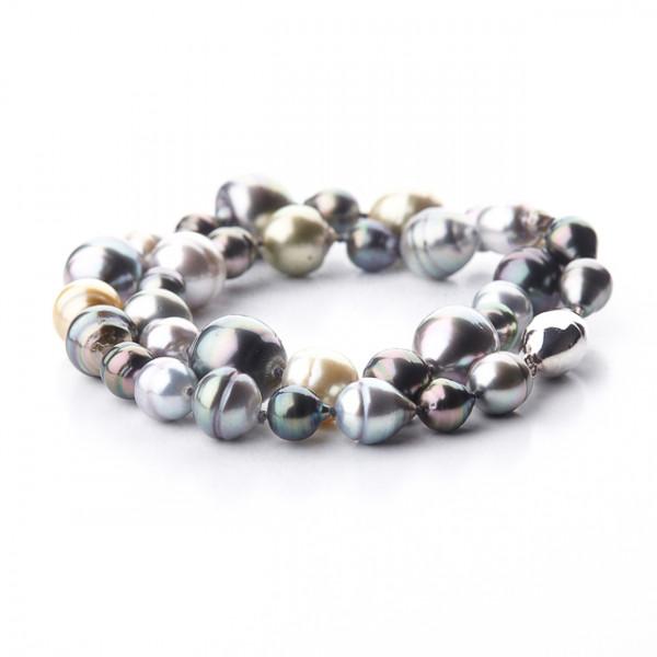 Tahiti Perlenkette Barock kurz - Perl-100-100