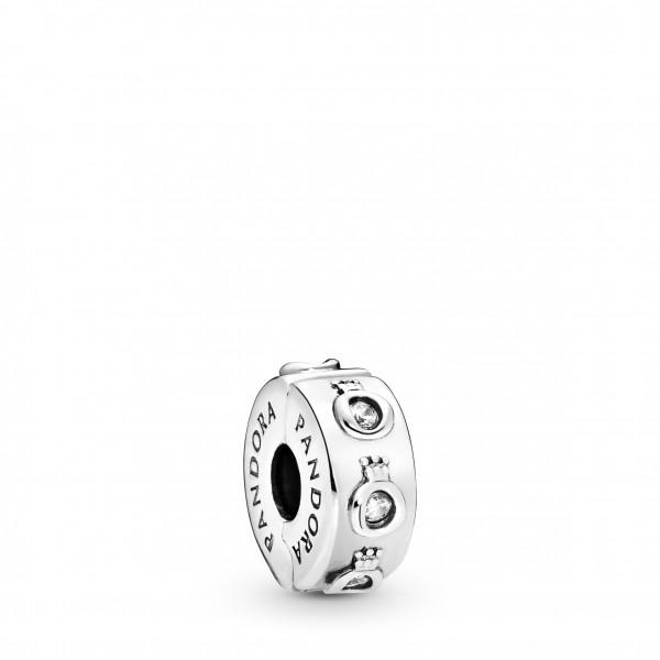 PANDORA Clip Charm Sparkling Crown O - 798326CZ