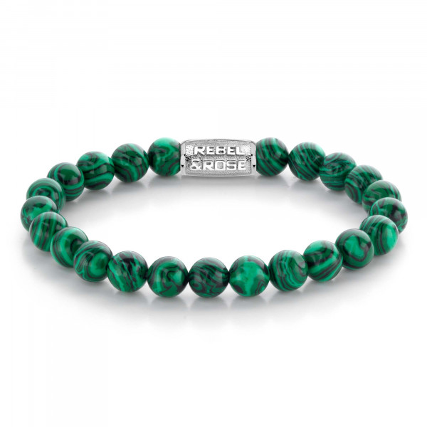 Rebel & Rose Armband Stones Malachit Green