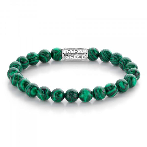 Rebel & Rose Armband Stones Malachit Green