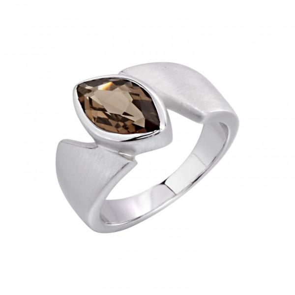 Swiss Rocks Bergkristall Ring Ogive - SR-167