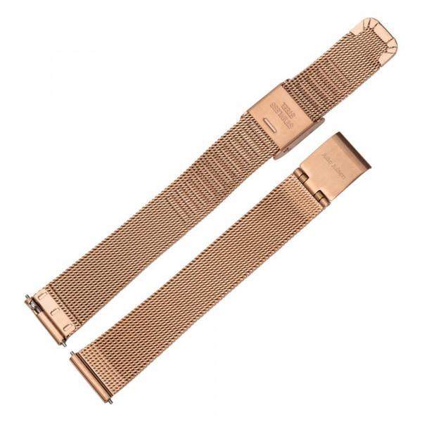 Julie Julsen Pin Off Uhren-Armband Rosé Mesh - EJJWMB3PIN