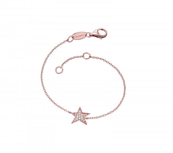 Armband Star Silber Rotgold mit Zirkonia - ERB-LILSTAR-ZI-R