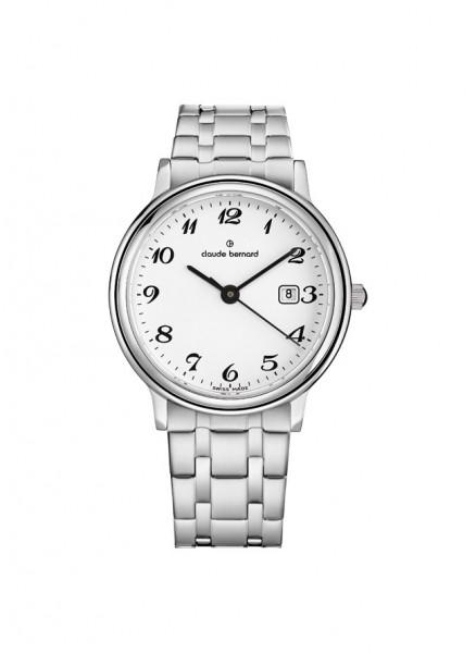 Claude Bernard Schweizer Quarz Uhr Classic Gents Ladies Silber Stahl small - 54005-3M-BB_1