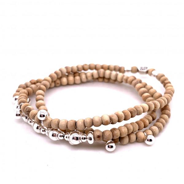 DaShanti Armkette/Halskette Sober Holz - 88-2040-01-2