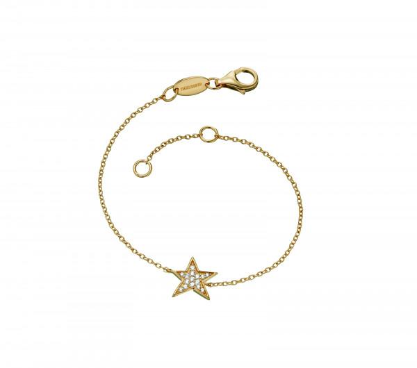 Armband Star Silber Gelbgold mit Zirkonia - ERB-LILSTAR-ZI-G