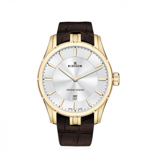 Edox Grand Ocean Ultra Slim Gold White - 56002-37JC-AID