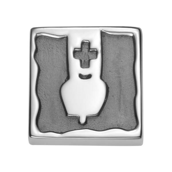 Gexist Swiss Edelweiss Element Kuhglocke Silber - B-9027