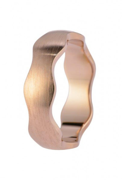 Veto Collect Edelstahlring Rosé Welle Veto Collect 6 mm - R828