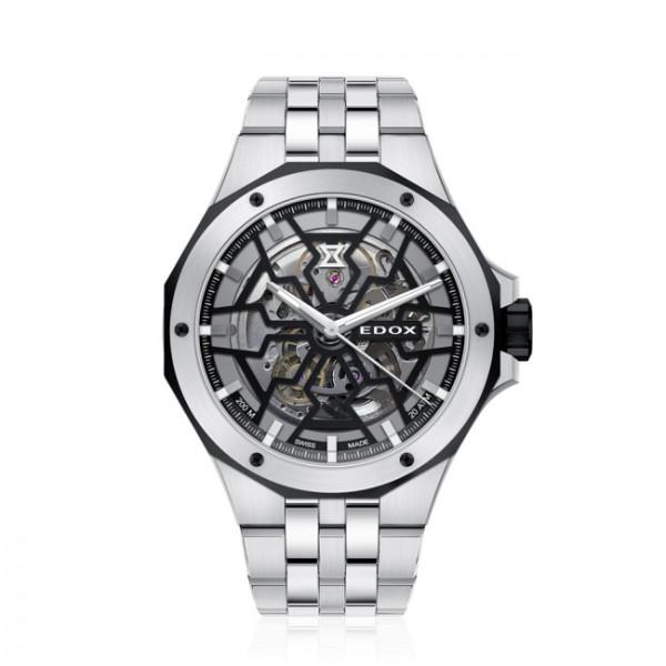 Edox Delfin Mecano Automatic Silver - 85303-3NM-NBG