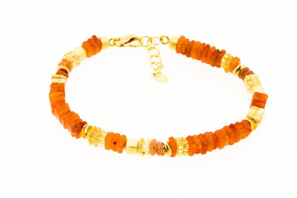 Armbandk Karneol und Citrin Gold - A10-1