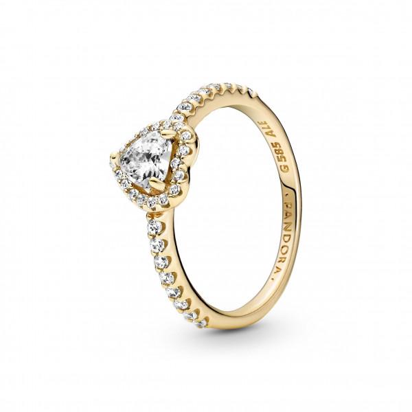 Pandora Gold Ring Erhabenes Herz - 159139C01