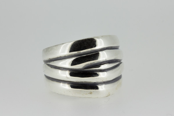 ElfCraft Ring Multi bands plain - E-847.077.M-56