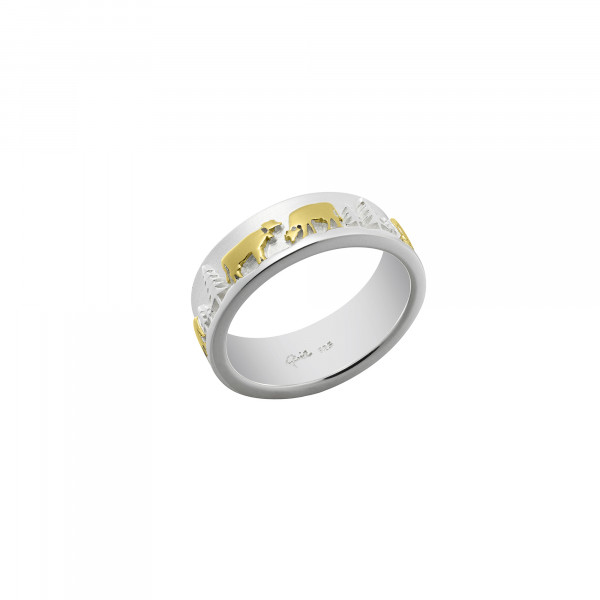 Gexist Swiss Edelweiss Ring Poya Bicolor - RG-9000