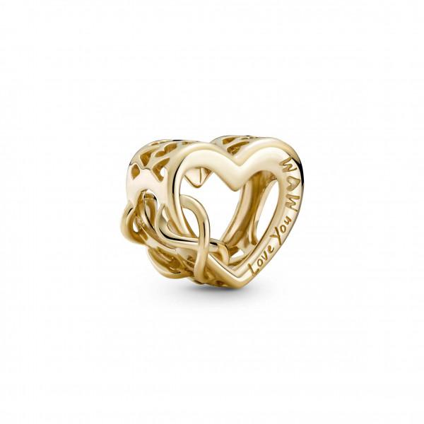 Pandora Gold Charm Unendlichkeits-Herz - 759515C00