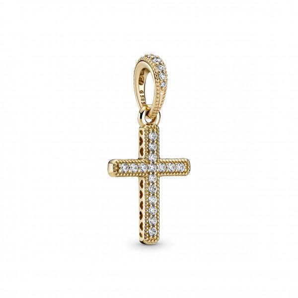 Pandora Gold Anhänger Funkelndes Kreuz - 359521C01