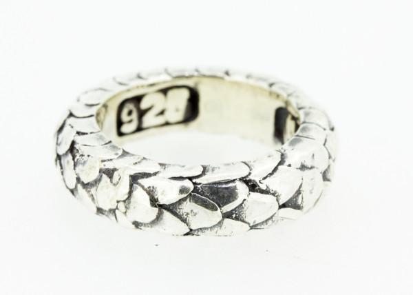 E-Ring Dragon Scales Band, schmal - E-806.088-52