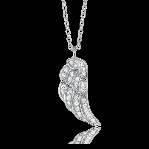 Halskette Flügel Silber mit Zirkonia 40 + 4 cm - ERN-LILWING-ZI