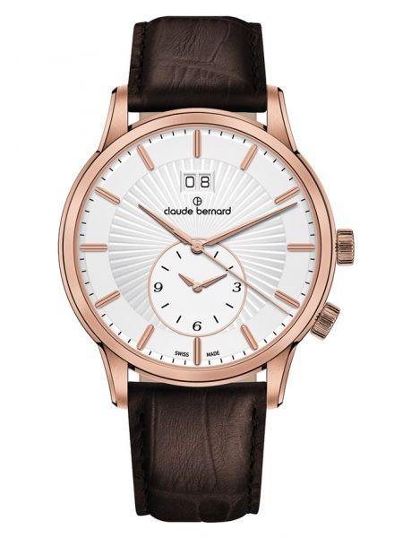 Claude Bernard Classic 2nd Time Zone Rose Weiss - 62007-37R-AIR