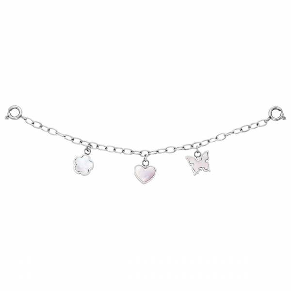 Julie Julsen Charming Uhrenkette Blume-Herz-Schmetterling - JJCG25502-1