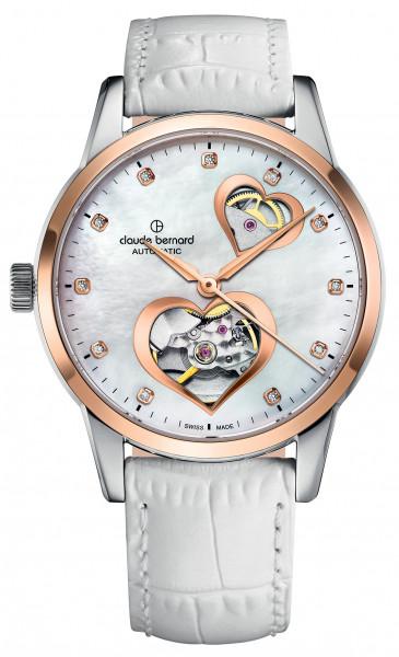 Claude Bernard Schweizer Uhr Classic Automatic Open Heart - 85018-37R-NAPR2