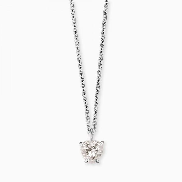 Kinderschmuck Herzengel Halskette Herz Klar - HEN-HEART01-ZI