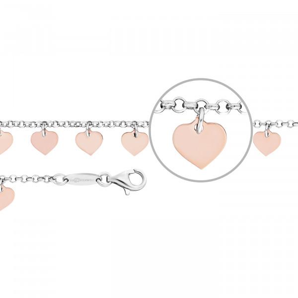 Kettenmacher Herzen Armband - FH-19S