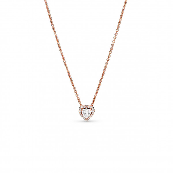 PANDORA Rose Halskette Funkelndes Herz - 388425C01-45
