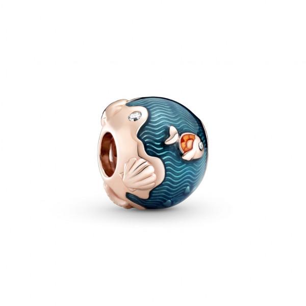 Pandora Rose Charm Schimmernde Ozeanwellen & Fisch - 789004C01