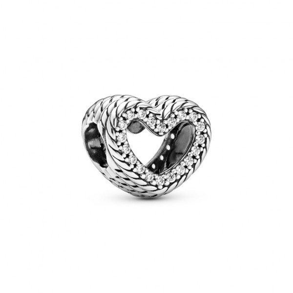 PANDORA Charm Snake Chain Pattern Open Heart - 799100C01