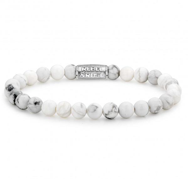 Rebel & Rose Armband Stones Virgin White