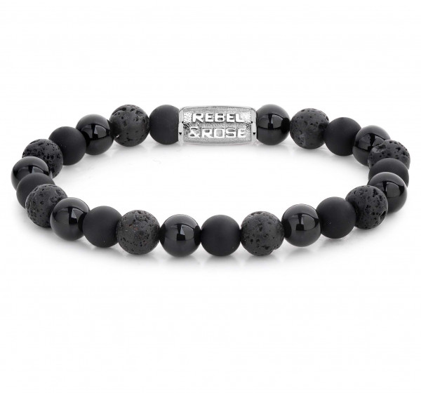 Rebel & Rose Armband Stones Black Rocks l