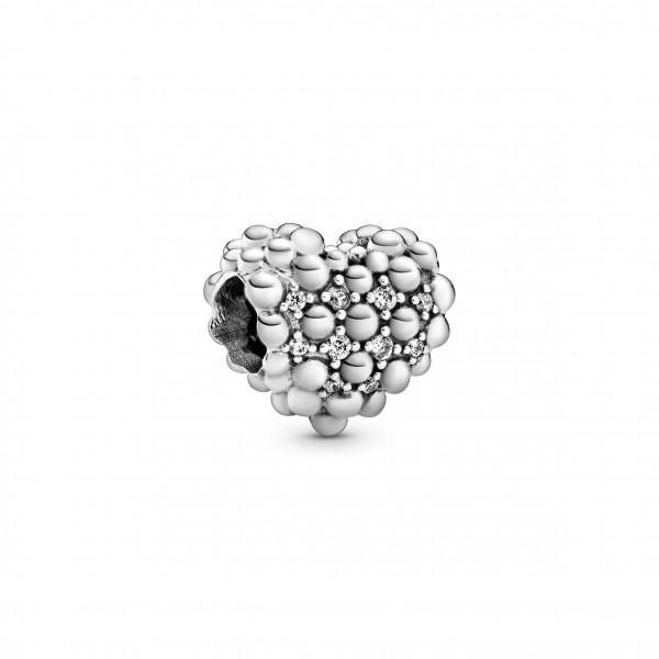 PANDORA Charm Funkelndes Metallperlen Herz - 798681C01