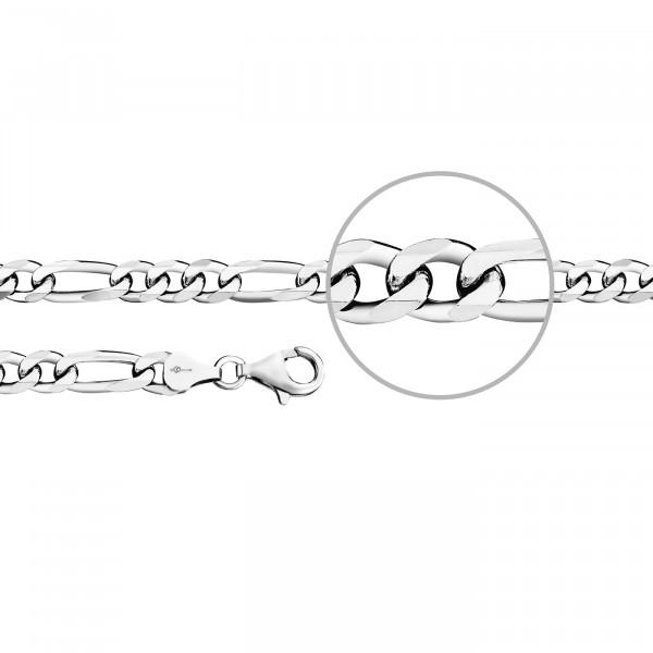 Kettenmacher Figaro Armband 6,4 mm - F4-S
